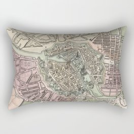 Vintage Map of Berlin Germany (1716) Rectangular Pillow