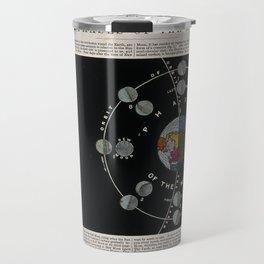 Transparent Diagram of the Phases of the Moon (J. Emslie, 1850) Travel Mug