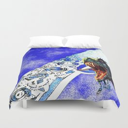 Flute with Sea Monster Duvet Cover