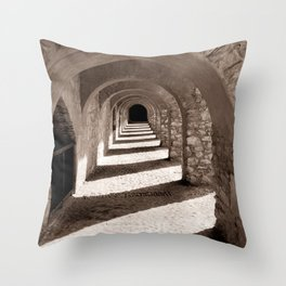 Corridors of Stone Throw Pillow