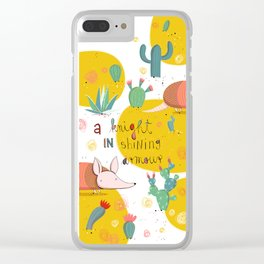 Armadillo: A knight in shining armour Clear iPhone Case