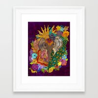 india Framed Art Prints featuring India by Aubree Eisenwinter