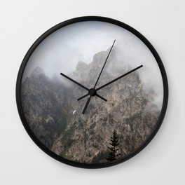 Mountains in a Cloud Wall Clock