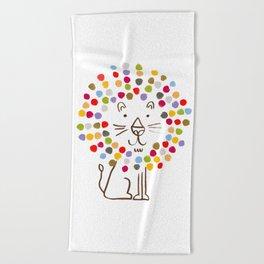 Dandy Lion Beach Towel