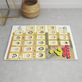 Serial Killer GuessWho Cards Rug