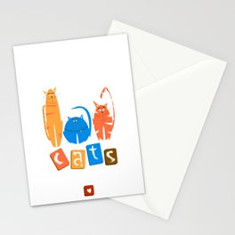 c a t s ! Stationery Cards
