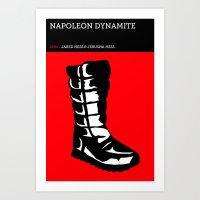 napoleon dynamite Art Prints featuring Napoleon Dynamite by David Edward Johnson