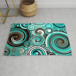 Water Whirlwind Abstract Rug
