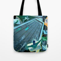 swimming Tote Bags featuring Swimming by Robin Curtiss