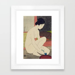 Woman after a bath by Goyo Hashinguchi, 1915 Framed Art Print
