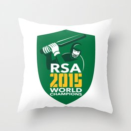 South Africa Cricket 2015 World Champions Shield Throw Pillow