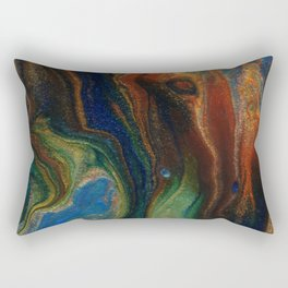 Earth Fire Lava Flow Cells Rectangular Pillow