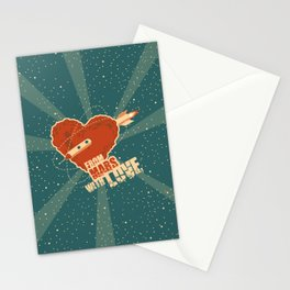 From Mars with love Stationery Cards