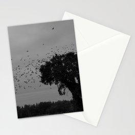 Black birds at flight Stationery Cards