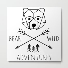 Wild Bear Adventures Metal Print