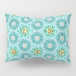 Blue turquoise pattern Pillow Sham