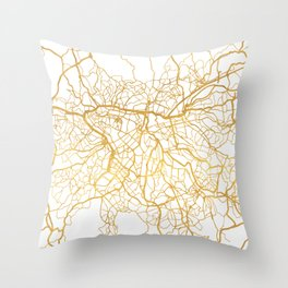 SAO PAULO CITY STREET MAP ART Throw Pillow