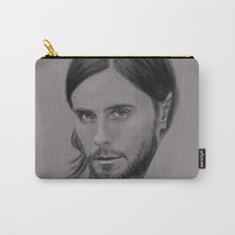 Jared Leto Digital Portrait grey LLFD Carry-All Pouch