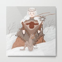 The Enchantress of Cozy Sweaters Metal Print
