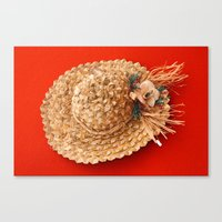 hat Canvas Prints featuring Hat  by Gaspar Avila