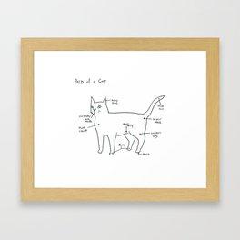 Parts of a Cat Framed Art Print