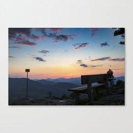 Sunset in lower Austria Canvas Print