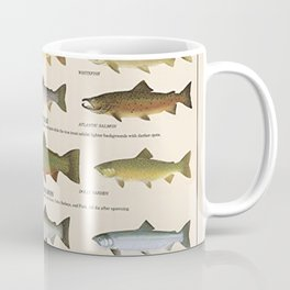 Illustrated Western Game Fish Identification Chart Coffee Mug