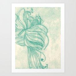 Ocean Plant Art Print