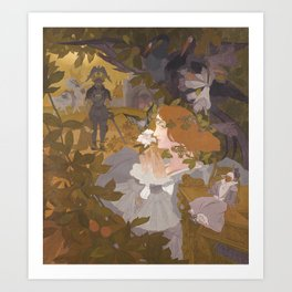 Georges de Feure-Project for a Tapestry (The Fairy Caprice) Art Print