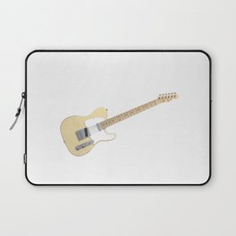 White Electric Guitar Laptop Sleeve