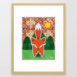 Fabric Fox Framed Art Print
