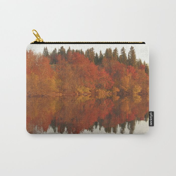 Colorful autumn trees reflection in the lake Carry-All Pouch