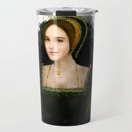 Anne Boleyn grunge artwork Travel Mug