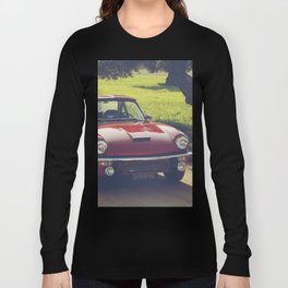 Triumph Spitfire, classic British sportscar, English Auto fine art print, old car Long Sleeve T-shirt