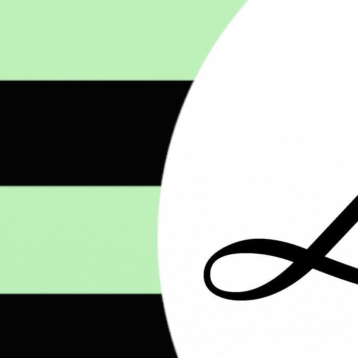 Vintage Love - Pastel green and black design Leggings