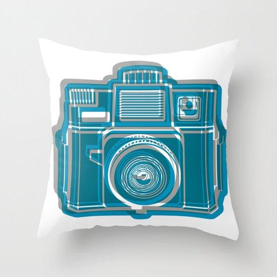I Still Shoot Film Camera Logo Throw Pillow