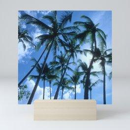 Tropical Palm Trees in the Sky Mini Art Print