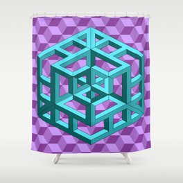 impossible patterns Shower Curtain