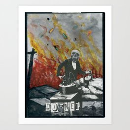 Complimentary Anesthetics amidst firebomb and spiritual tranquilizer raid. Art Print