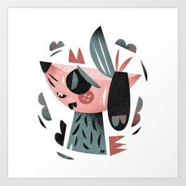Dreamer dog Art Print