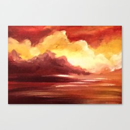 Red ocean Canvas Print
