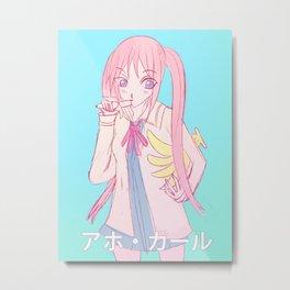 banana loving girl anime Metal Print