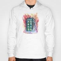 doctor Hoodies featuring Doctor Who Tardis by Jessi Adrignola