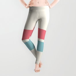 2 Stripes Pink Mint Leggings
