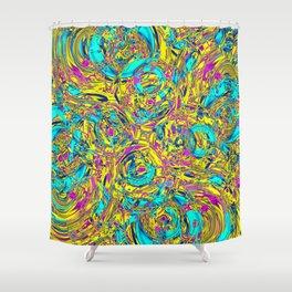 Abstract HJ YY Shower Curtain