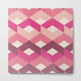 Pink Fancy Pattern Metal Print