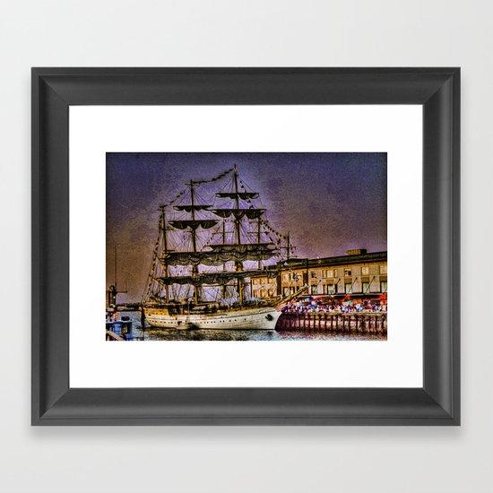 "Tall Ship ""Mircea"" Framed Art Print"