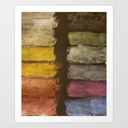 Metallic Watercolor on Black Cardstock Art Print