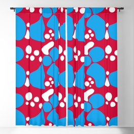 Abstract red-blue pattern Blackout Curtain