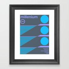 millenium single hop Framed Art Print